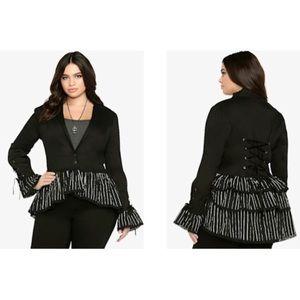 Jack Skellington Black Ruffle Blazer Jacket